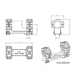 Montáž optiky pro kulovnice CZ 557 - upínání imbusem pro tubus o ø30 mm