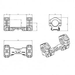 Montáž optiky jednodílná – upínání imbusem, bez adaptéru objímky pro tubus o ø30 mm