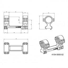 Montáž optiky pro kulovnice CZ 557 – upínání imbusem